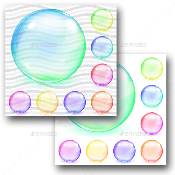 GraphicRiver Multicolored Transparent And Opaque Glass Spheres 11325822