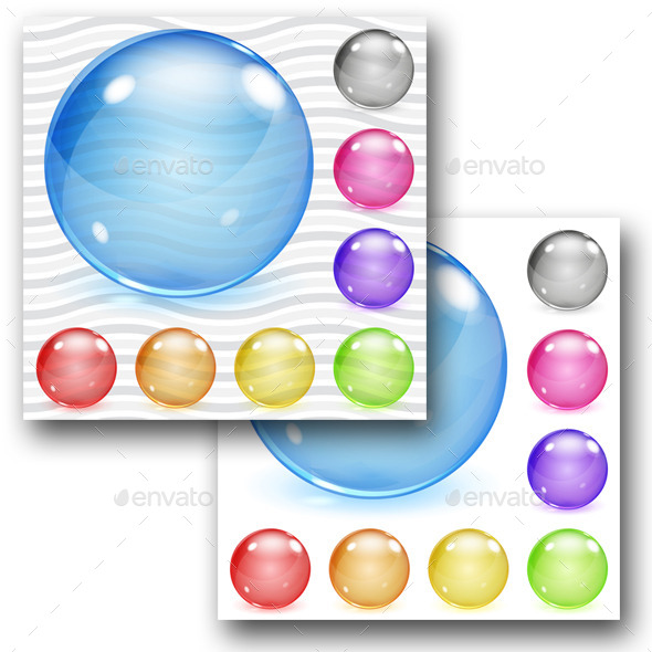 GraphicRiver Multicolored Transparent And Opaque Glass Spheres 11325829