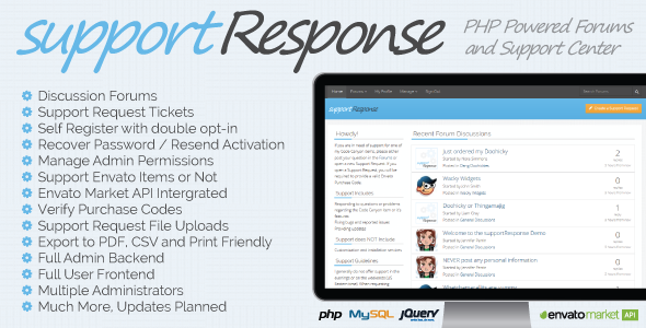 CodeCanyon supportResponse PHP Support and Discussion System 11325925