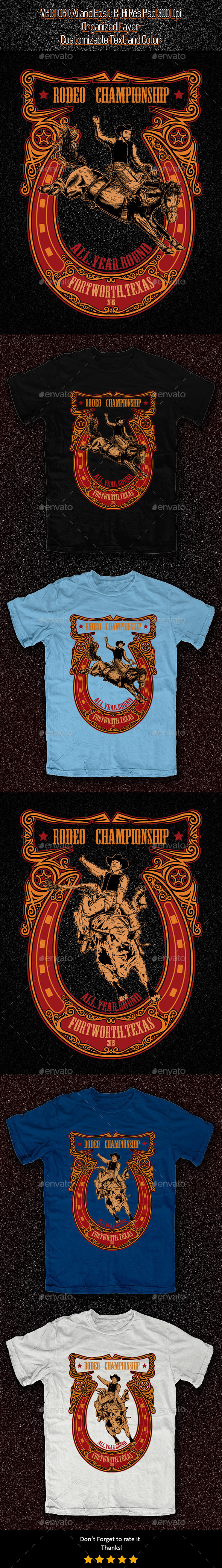 GraphicRiver Rodeo T-shirt Template 11326003