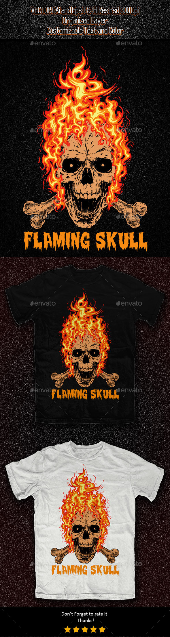 GraphicRiver Flaming Skull 11326018