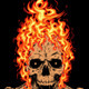 Flaming Skull - GraphicRiver Item for Sale