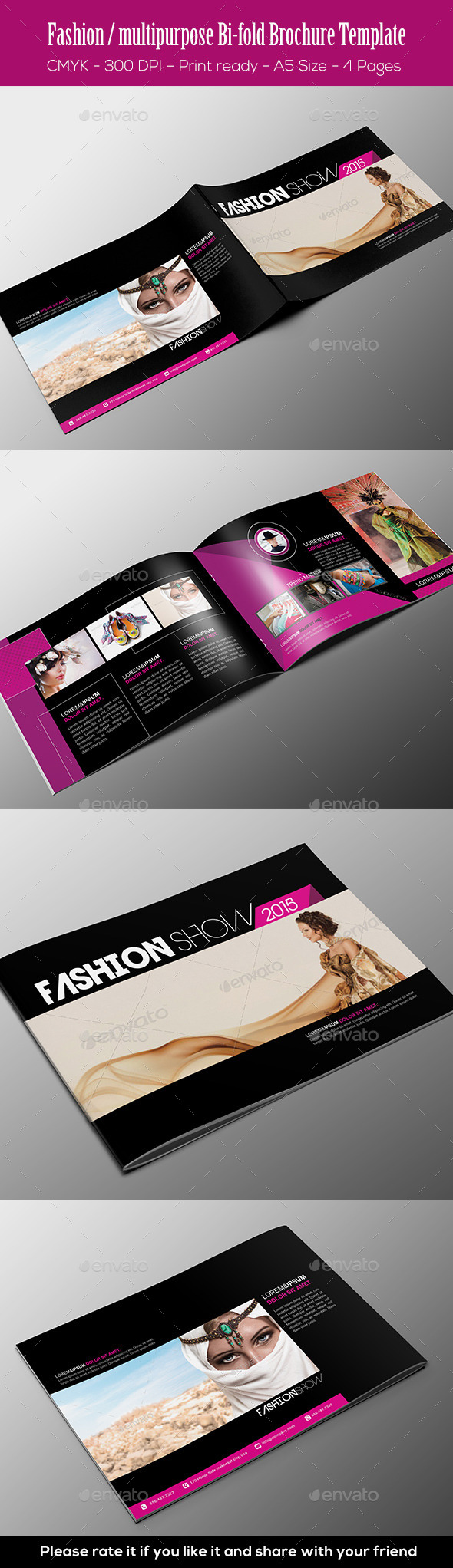 GraphicRiver Fashion Multipurpose Bi-fold Brochure Template 11326020