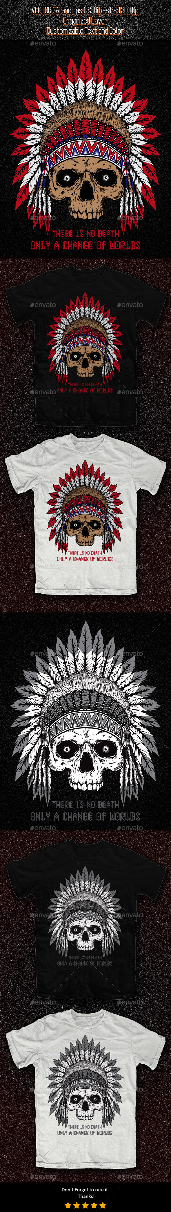 GraphicRiver Native American Skull 11326027