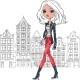 Vector Fashion Girl In Amsterdam - GraphicRiver Item for Sale