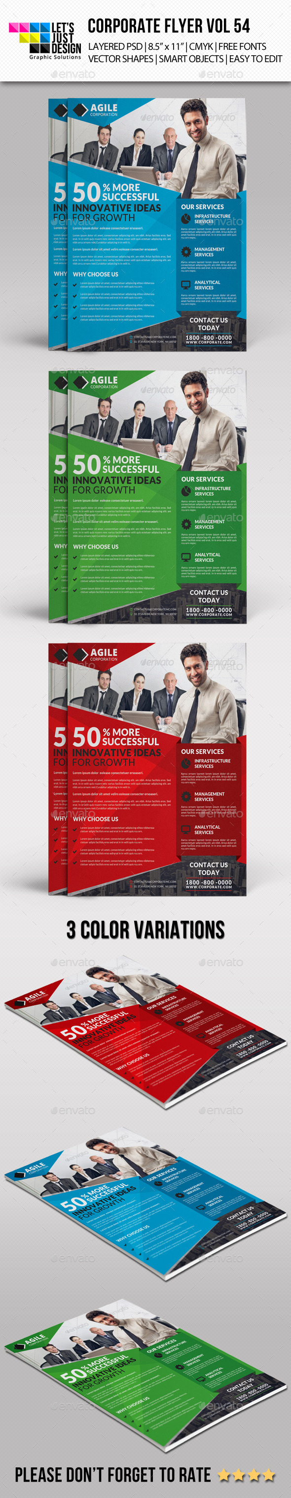 GraphicRiver Corporate Flyer Template Vol 54 11326372
