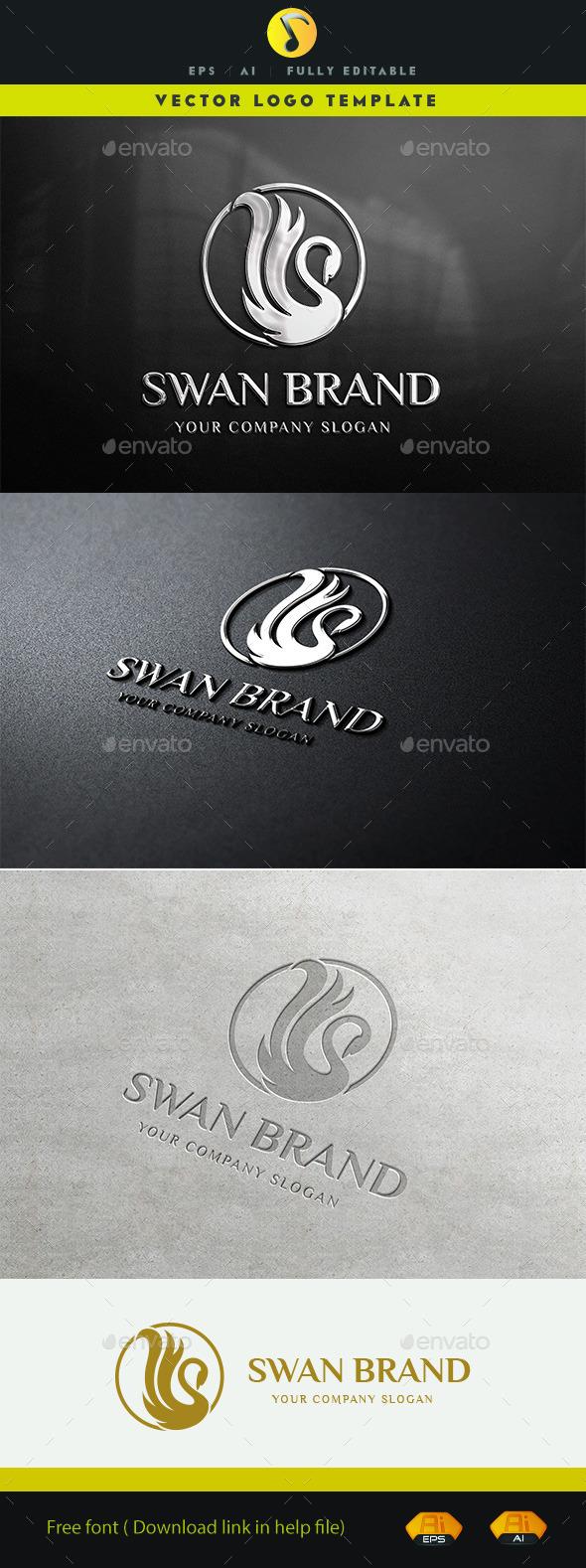 GraphicRiver Swan Brand Logo V.2 11326734