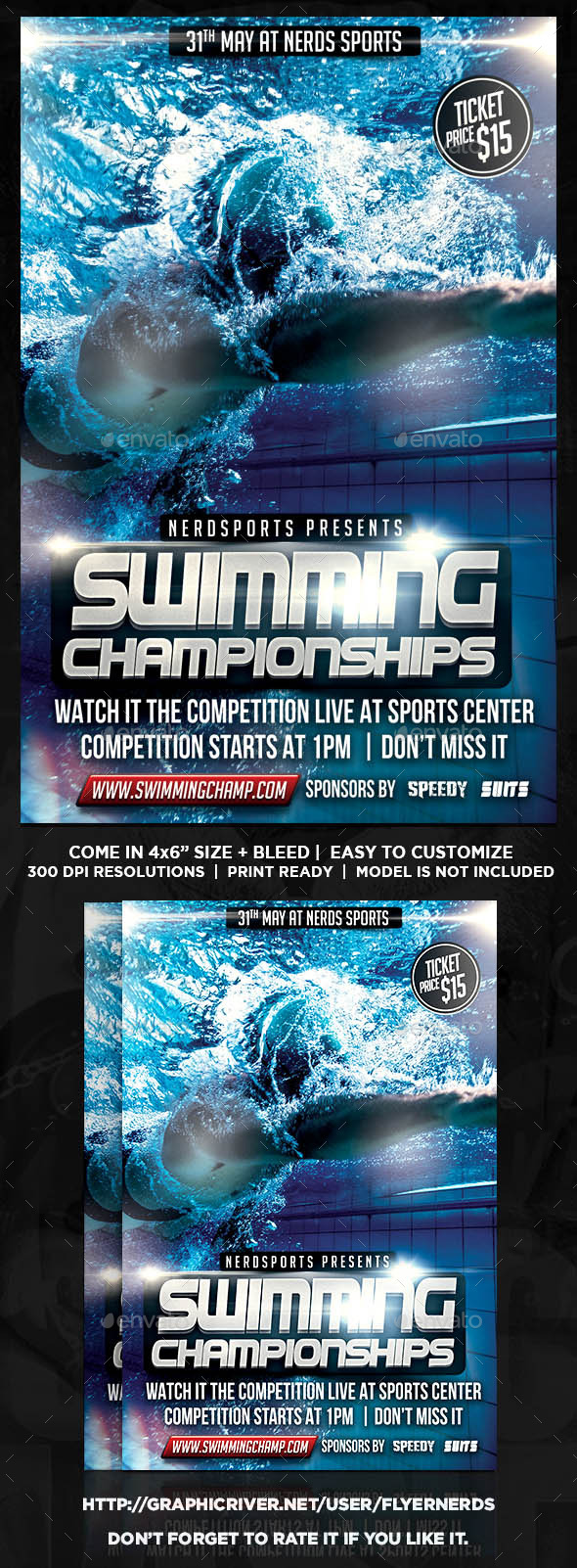 GraphicRiver Swimming Championships Sports Flyer 11326744
