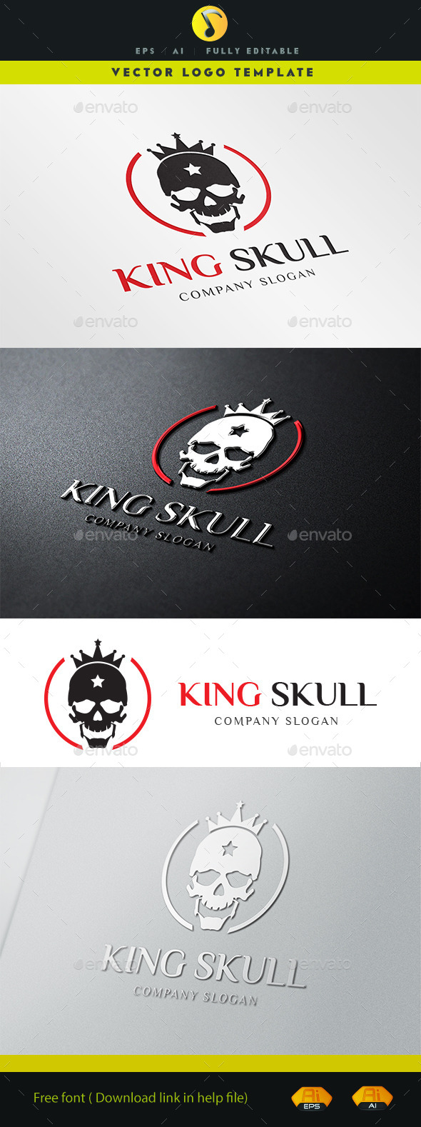 GraphicRiver King Skull 11326923
