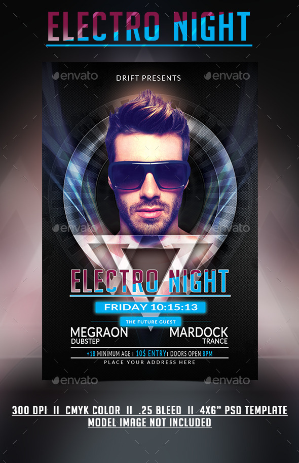 GraphicRiver Electro Night Party Flyer 11326932