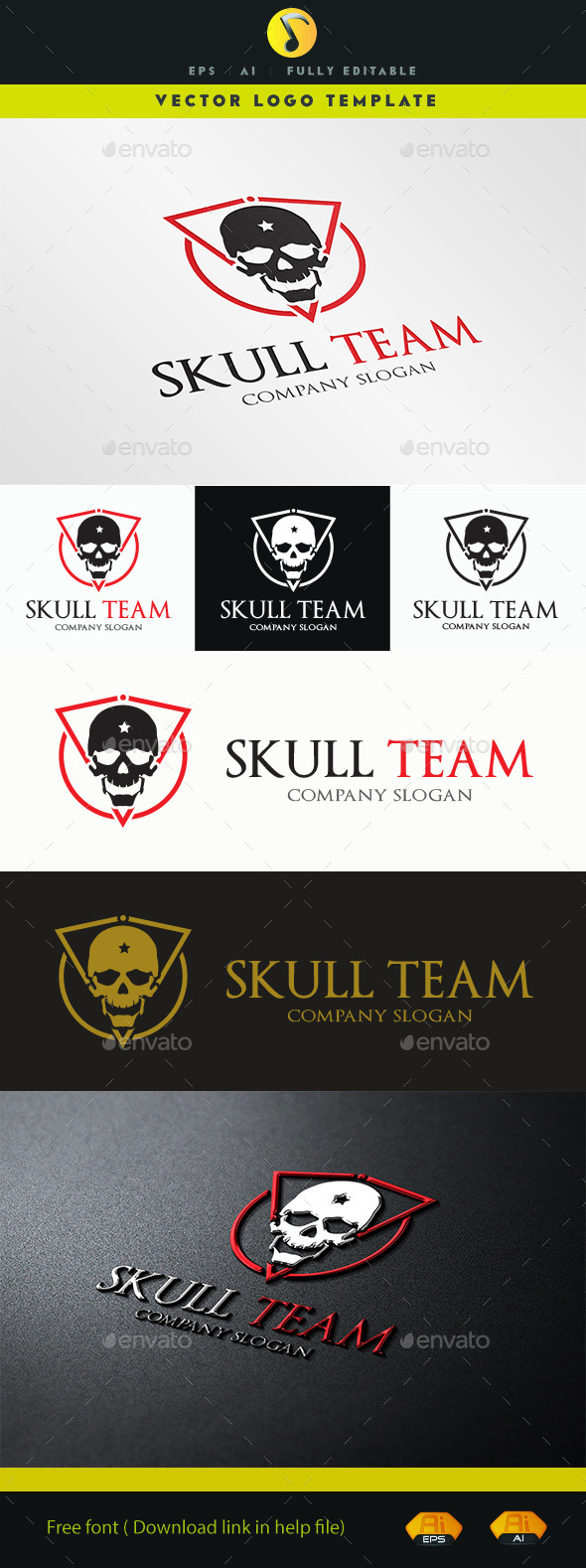 GraphicRiver Skull Team 11326954