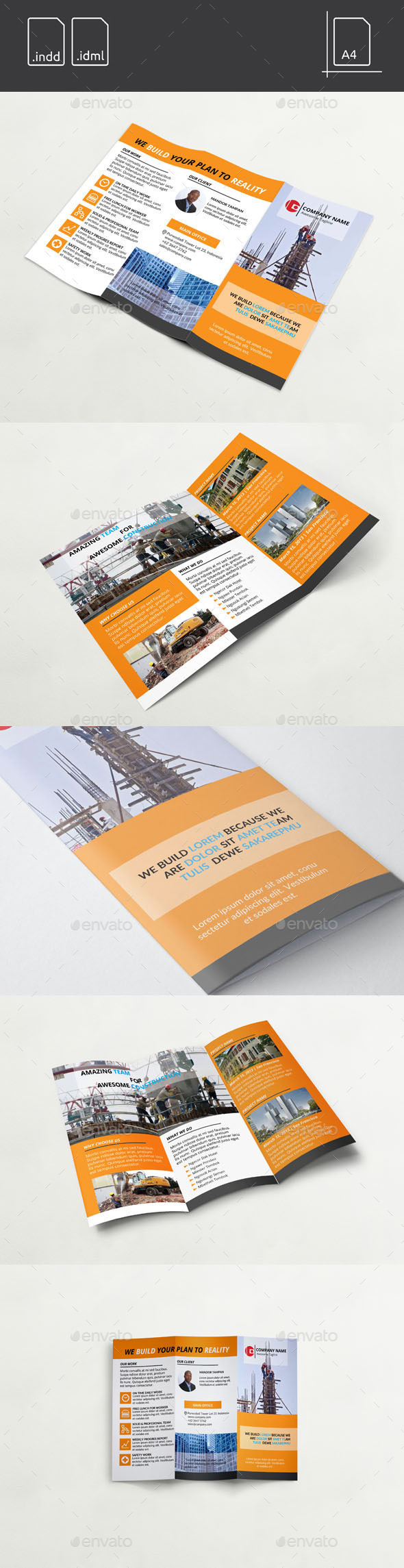 GraphicRiver Worker Construction Tri-Fold Brochure 11327156