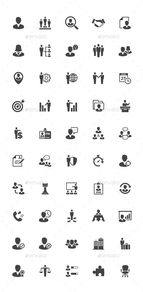 GraphicRiver 50 Management and Human Resource Icon 11327494