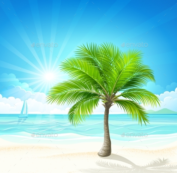 GraphicRiver Tropical Beach Vector 11327694