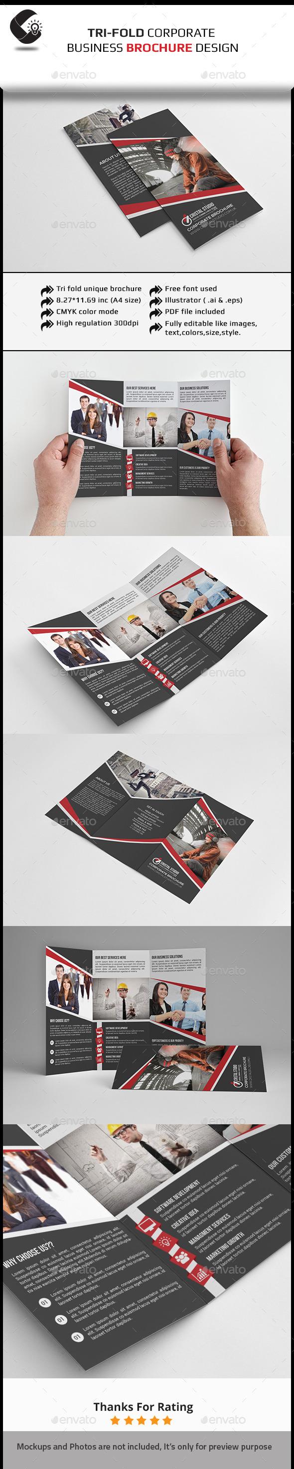 GraphicRiver Tri-Fold Brochure Multipurpose 11327851
