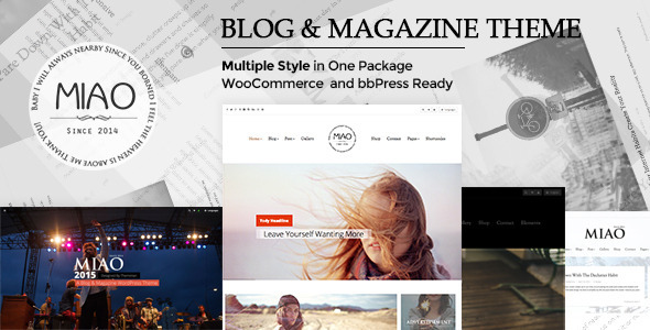 ThemeForest Miao Multi-Style Blog&Magazine WordPress Theme 11170534