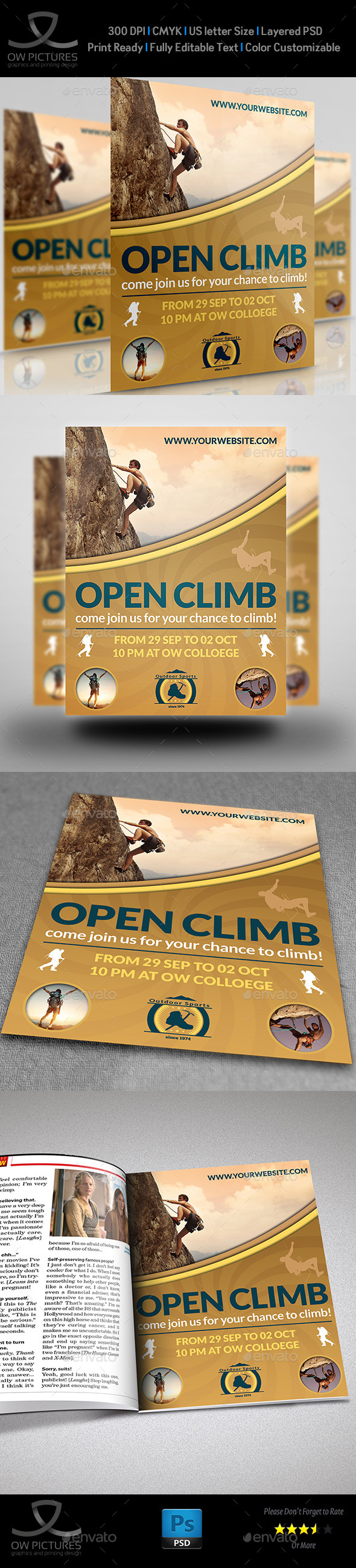 GraphicRiver Climbing Sport Flyer Template 11328733