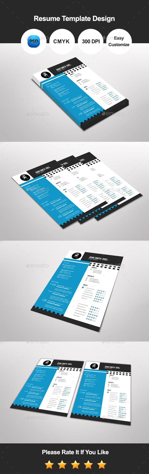 GraphicRiver Premium Resume Template Design 11279953