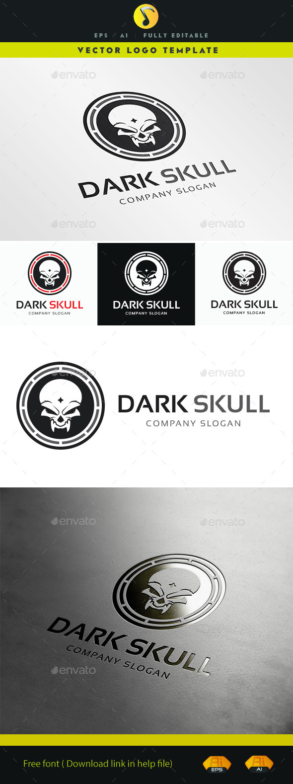 GraphicRiver Dark Skull 11328747