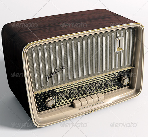 Radio Telefunken Jubilate - 3DOcean Item for Sale