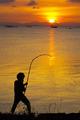silhouette of fishermen - PhotoDune Item for Sale