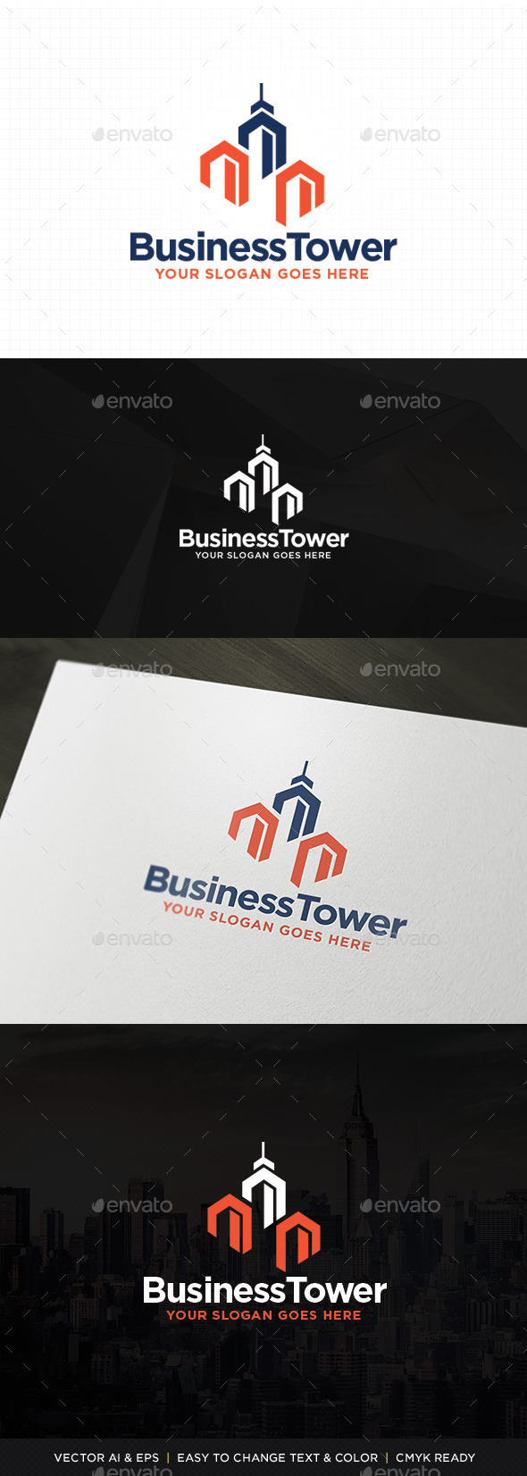 GraphicRiver Plaza Tower Logo 11329035