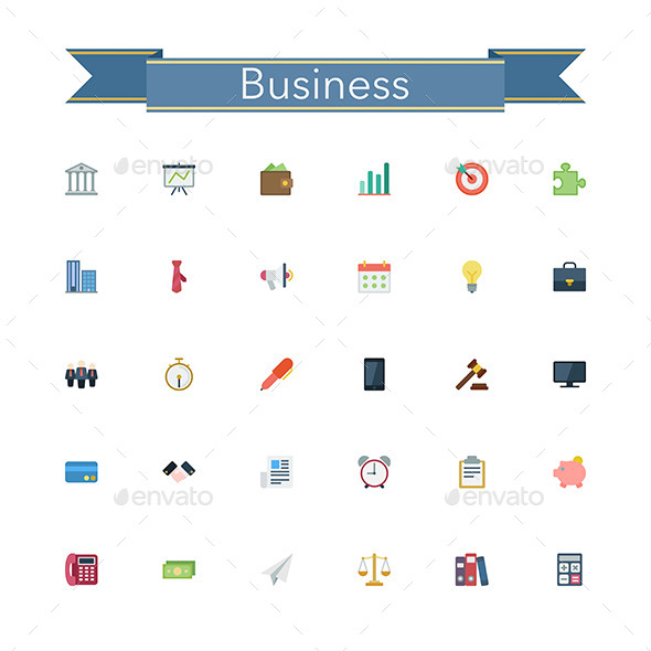 GraphicRiver Business Flat Icons 11329158