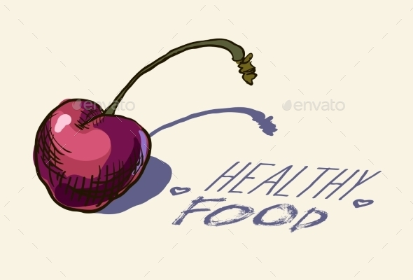 GraphicRiver Hand Drawn Vintage Illustration Of Cherry 11329243