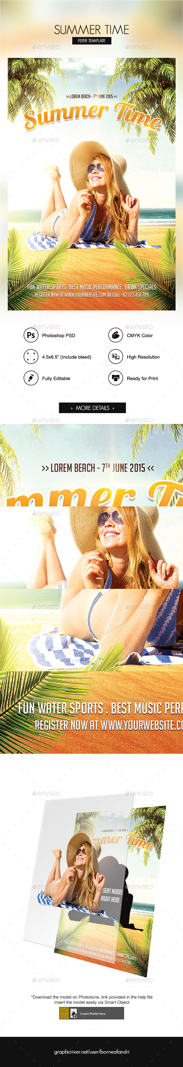 GraphicRiver Summer Time Flyer 11285932