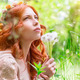 Dreamy woman with dandelions - PhotoDune Item for Sale