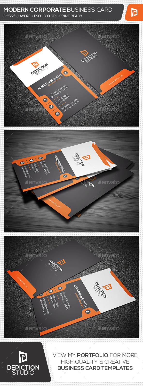 GraphicRiver Modern Corporate Business Card 11329551