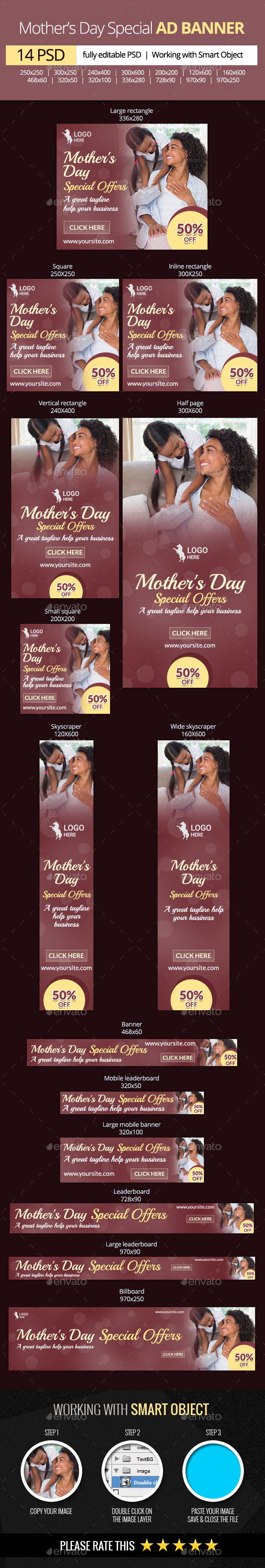 GraphicRiver Mother s Day Special Offers Web Banners 11329604