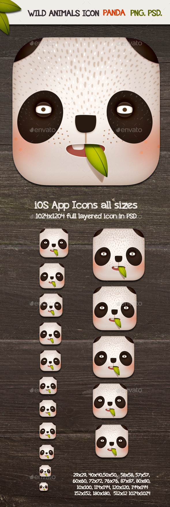 GraphicRiver Panda App Icons 11329637