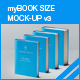 myBook Size Mock-up v3 - GraphicRiver Item for Sale