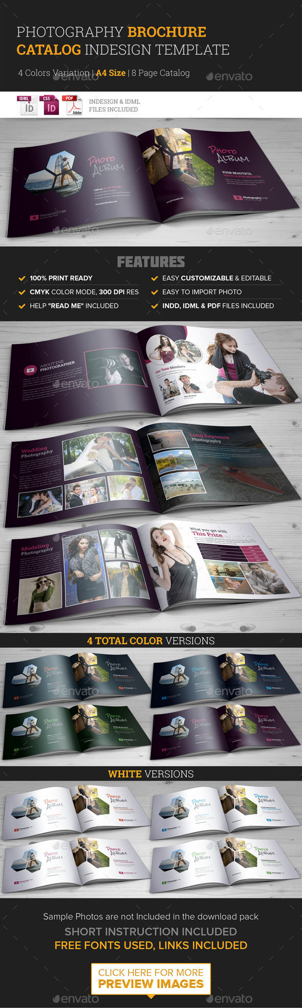 GraphicRiver Photography Brochure Catalog InDesign Template 11329813
