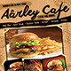 Cafe Menu Flyer + Business Card - GraphicRiver Item for Sale