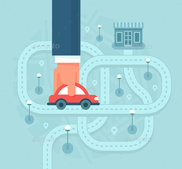 GraphicRiver Help Customers Find Local Business by Car 11330146