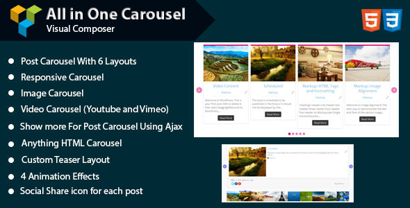 CodeCanyon Visual Composer All in One Carousel 11330151