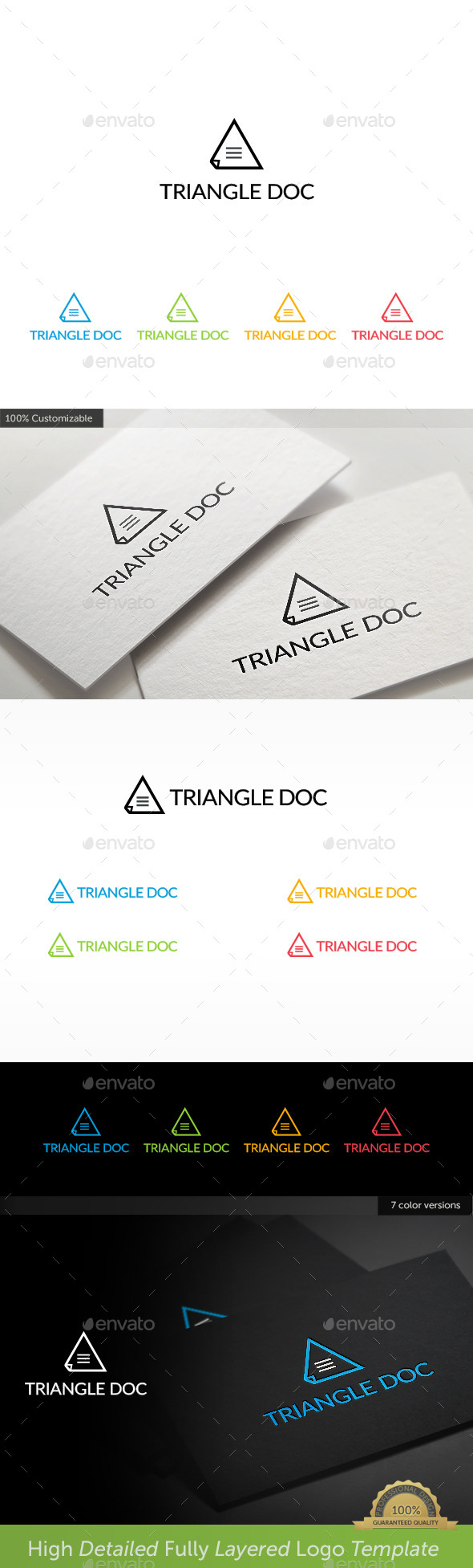GraphicRiver Triangle Document Logo 11330448