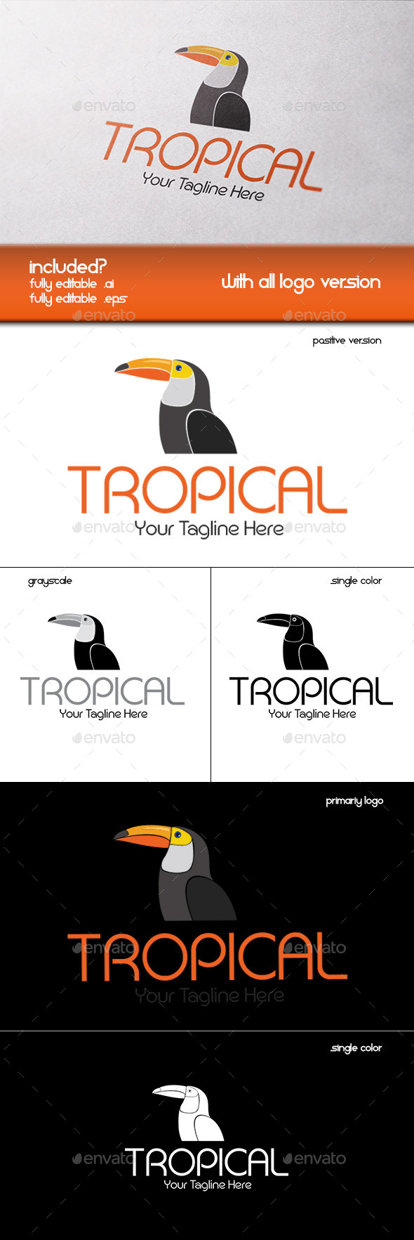 GraphicRiver Tropical Company Logo 11330501