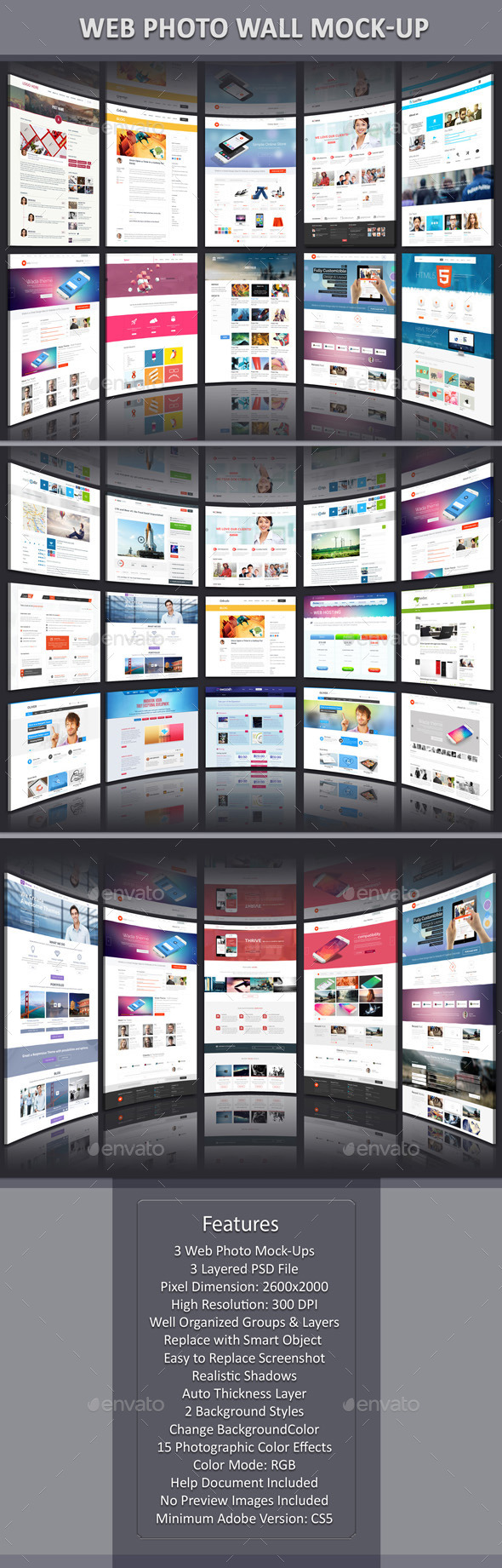 GraphicRiver Web Photo Wall Mock-Up 11330637