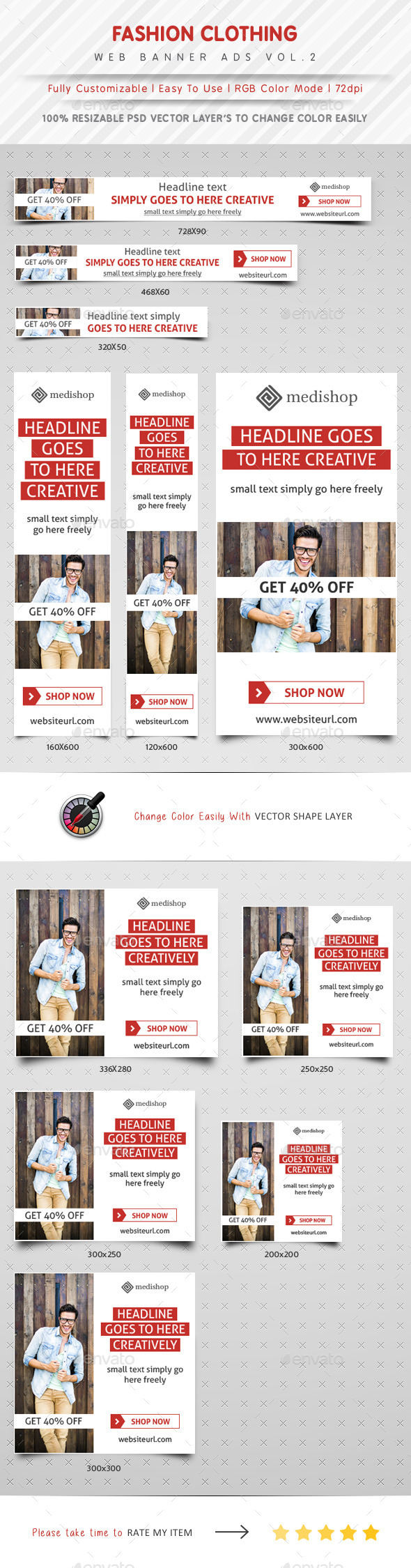 GraphicRiver Fashion Clothing Web Banner Ads Vol.2 11330639