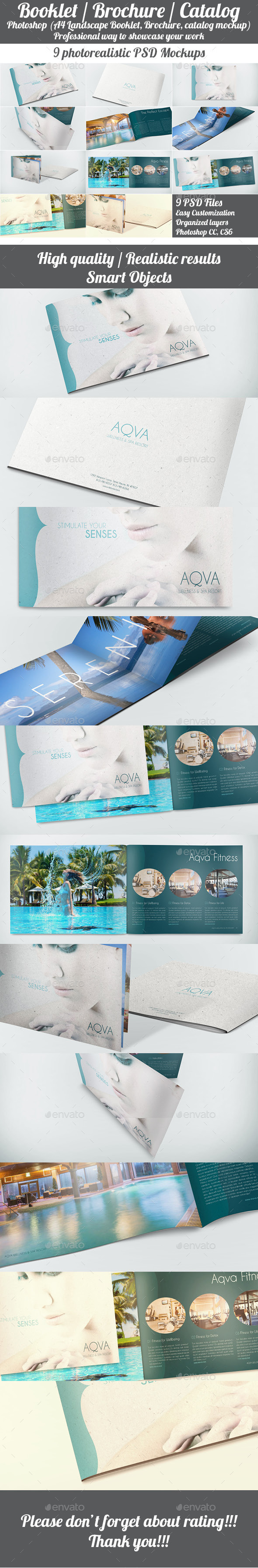 GraphicRiver Landscape Booklet Brochure Catalog Mockup 11330689
