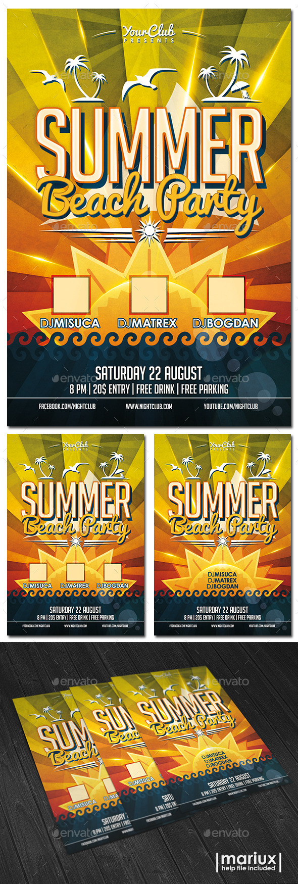 GraphicRiver Summer Beach Party Flyer 11330697