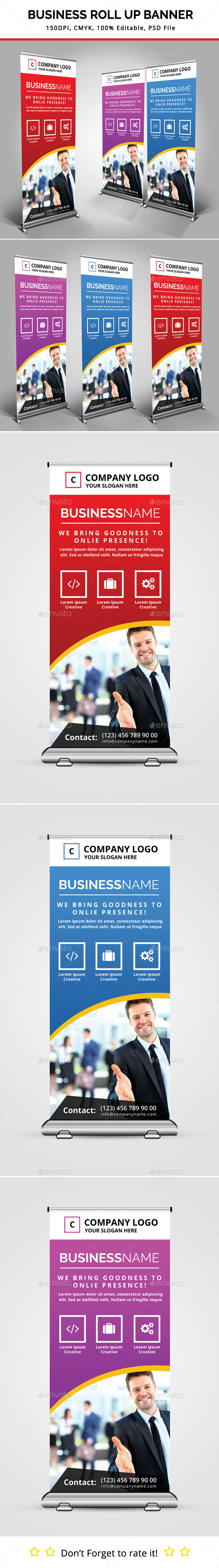 GraphicRiver Business Roll Up Banner 11330772