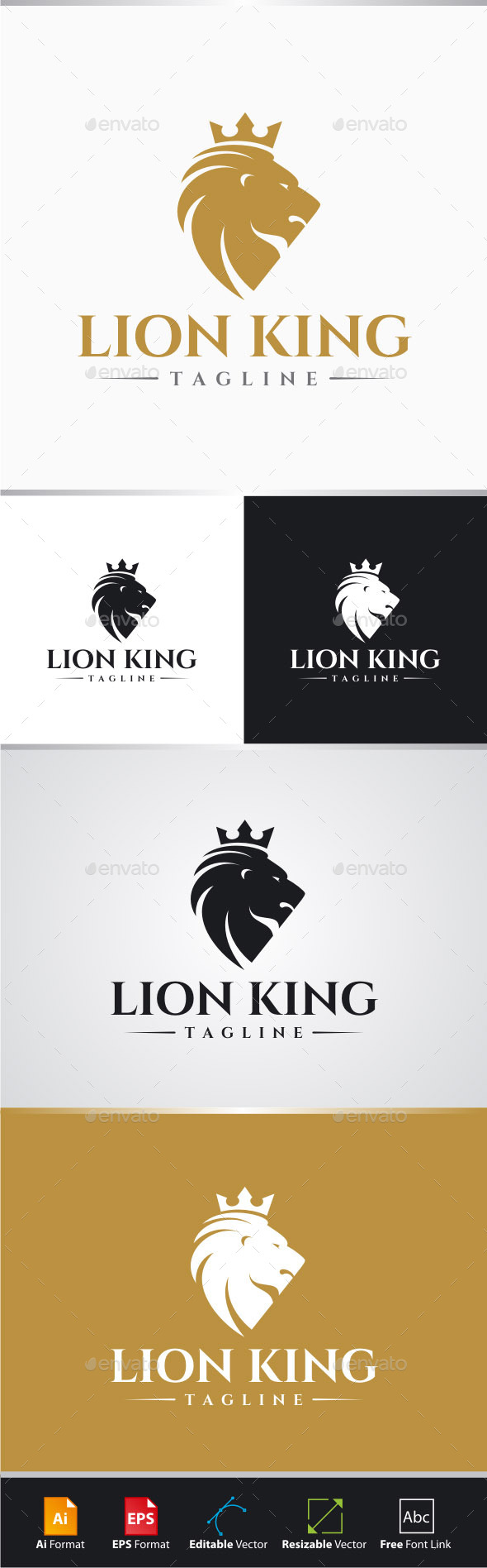 GraphicRiver Lion King Logo 11330892