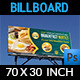 Breakfast Restaurant Billboard Template - GraphicRiver Item for Sale