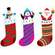 Christmas Stockings with Characters - GraphicRiver Item for Sale