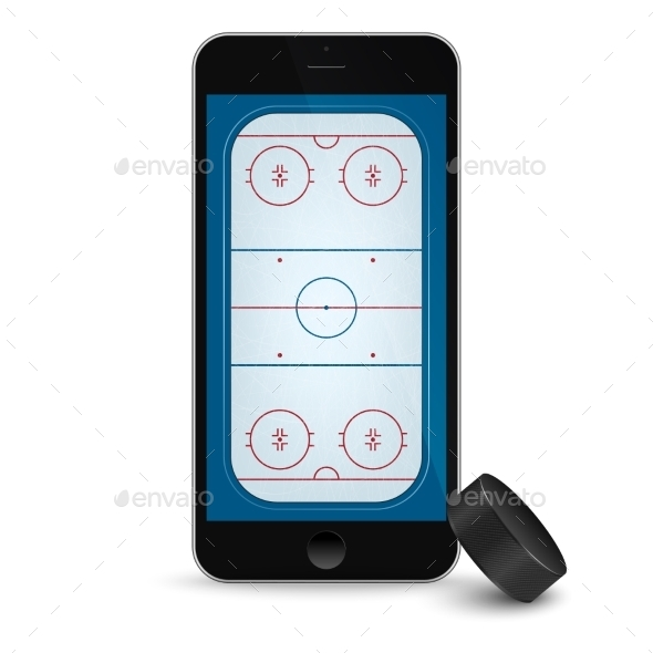 GraphicRiver Black Smartphone with Ice Hockey 11331257