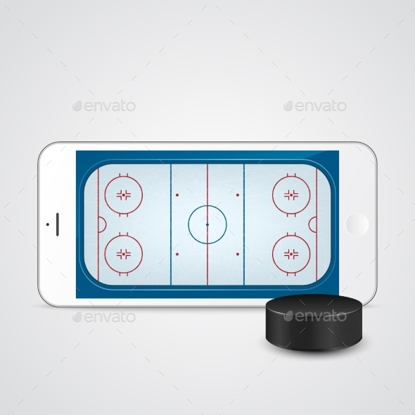 GraphicRiver White Smartphone with Ice Hockey 11331260